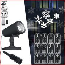 Proiettore Led da Interno o Esterno 12 Immagini Intercambiabili IP44 6W