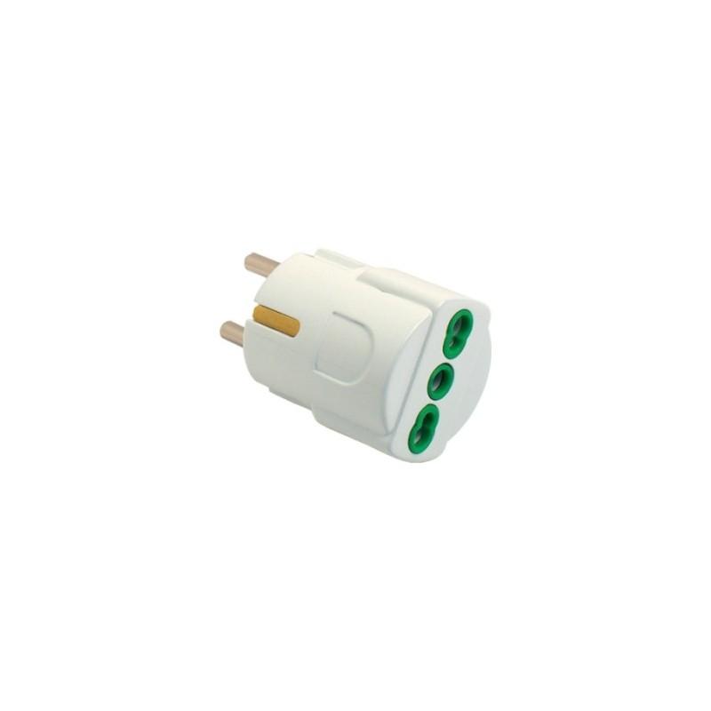 Fanton 81090 adattatore semplice spina italiana 2p t 16a for Placche prese elettriche