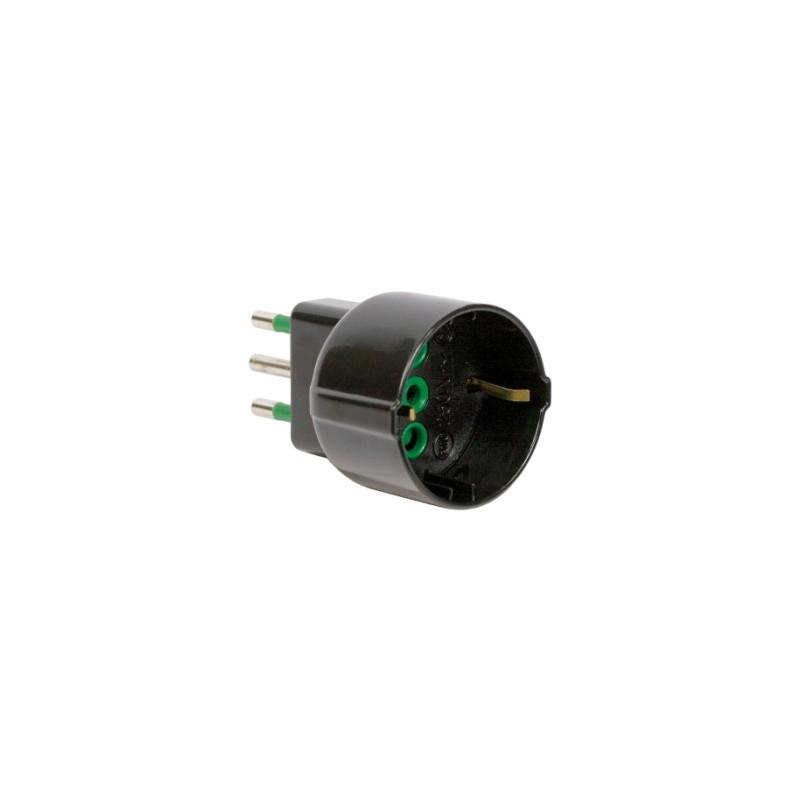 Adattatore semplice spina italiana 2p t 10a s11 presa for Placche prese elettriche