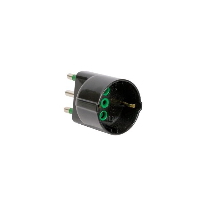 Adattatore semplice spina italiana 2p t 16a s17 presa for Placche prese elettriche