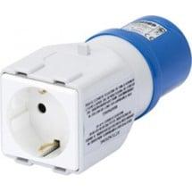 Adattatore Presa IEC 309 2P+T 16A 230V a Presa Tedesca 2P+T 10/16A 250V 50/60 Hz Gewiss GW64210