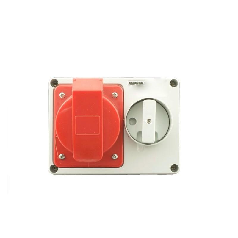 Presa fissa orizzonatale con fondo e interruttore blocco for Placche prese elettriche
