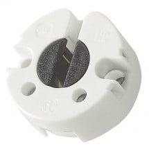 Portalampada G13 rigido a pastiglia 2 A 250 V rotondo girevole bianco a vite