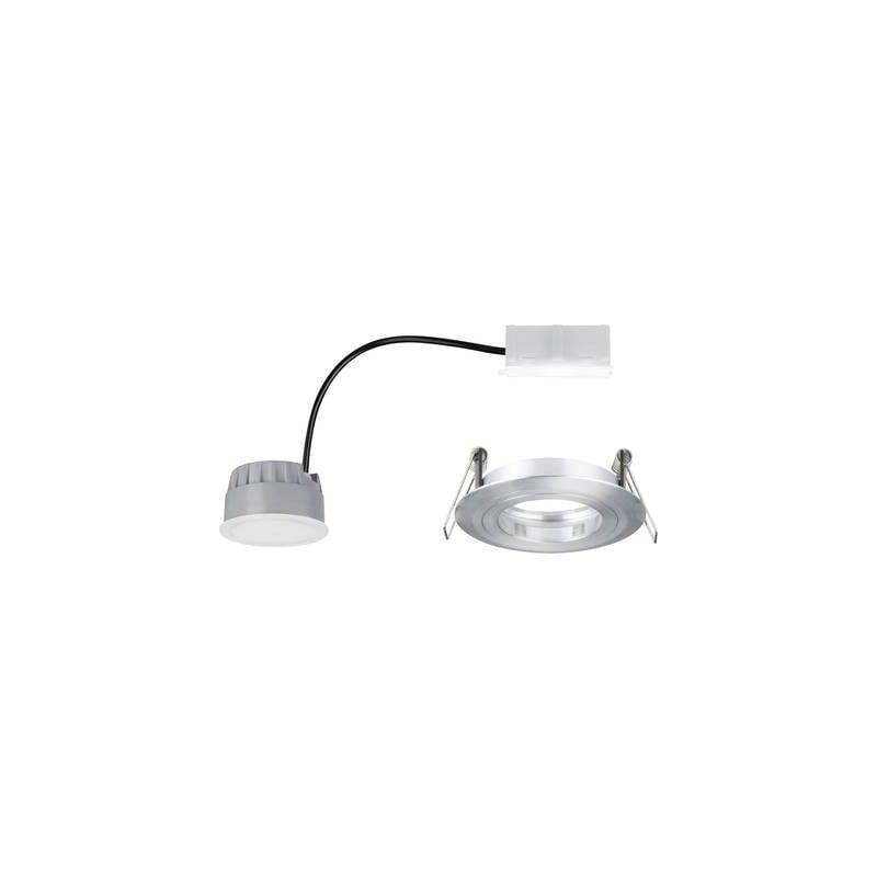 Lampada A Led Da Incasso Per Bagno 7 W Bianco Caldo Classe Energetica A A E Paulmann 93967 Coin Alluminio