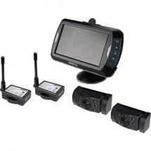 ProUser APR043x2 Telecamera di retromarcia senza fili 2 telecamere, Ulteriore luce IR, Linee guida Distanza, Conversione