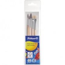 Pennello per colori a olio e acqua 5 parti Dimensione: 2, 4, 6, 10 Pelikan 718163