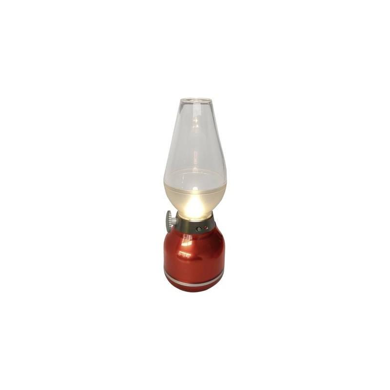 Lampade A Batteria Da Tavolo.Lampada Da Tavolo A Batteria 0 4 W Bianco Neutro Lightme Lm85301 Rosso