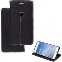 Perlecom Flip Cover Adatto Per: Samsung Galaxy A3 (2016) Nero