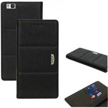 Perlecom Flip Cover Adatto Per: Huawei P9 Lite Nero