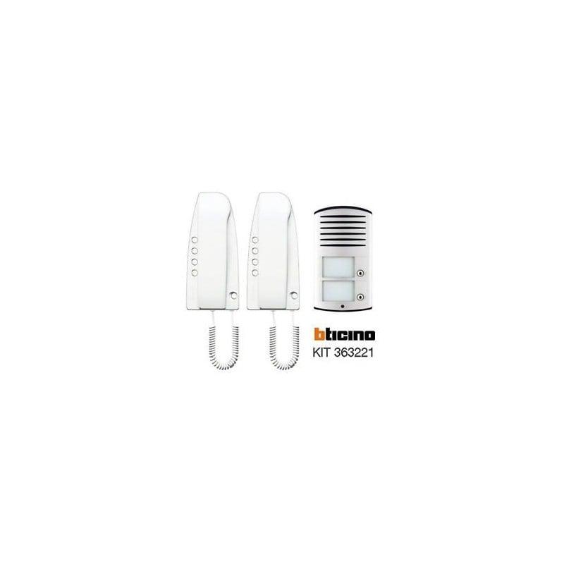 Bticino 363221 -Kit Citofono Bifamiliare Sprint