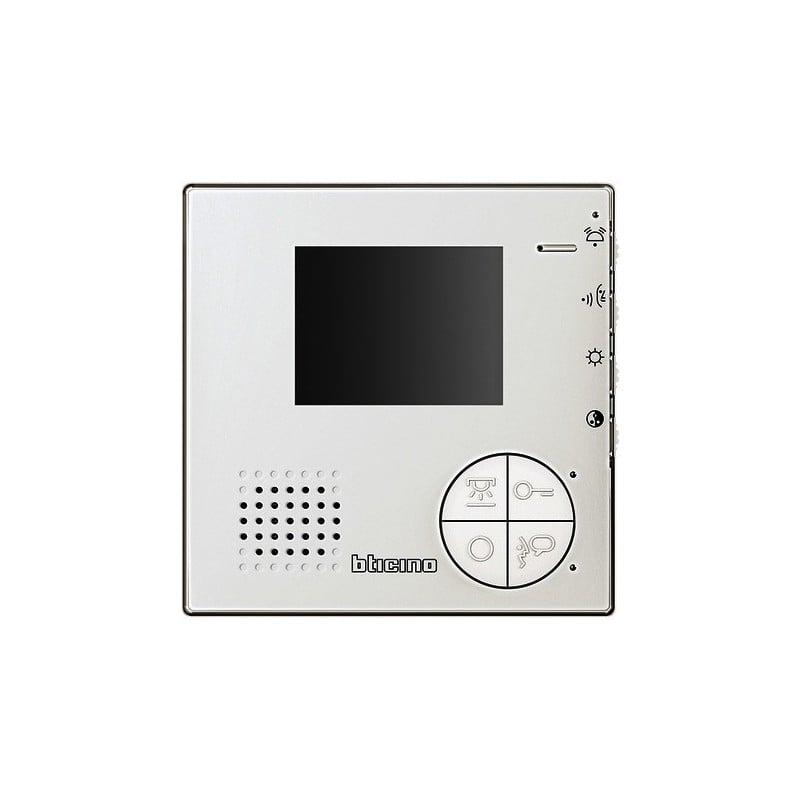 monitor videocitofonico viva voce grigio per espansione kit legrand