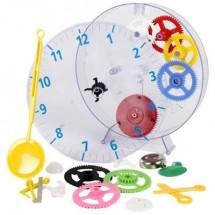 Techno Line Model Kids Clock Meccanico Kit Apprendimento Orologio Da Parete 20 Cm X 3.5 Cm Trasparente