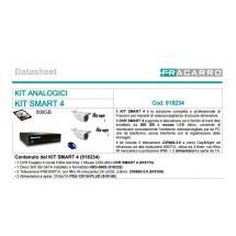 FRACARRO KIT SMART 4 KIT DVR 4CH + 2 IR CAM 600 TVL