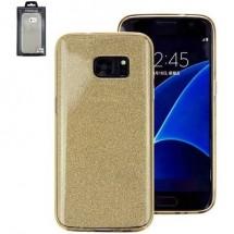 Perlecom Backcover Per Cellulare Adatto Per: Samsung Galaxy S7 Oro