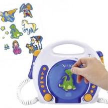 Lettore Cd Per Bambini X4 Tech Bobby Joey Cd, Sd, Usb Incl. Microfono Blu