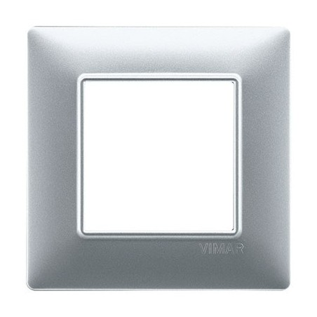 Placca Argento Opaco 1, 2, 3, 4, 7 Moduli Vimar Plana Tecnopolimero