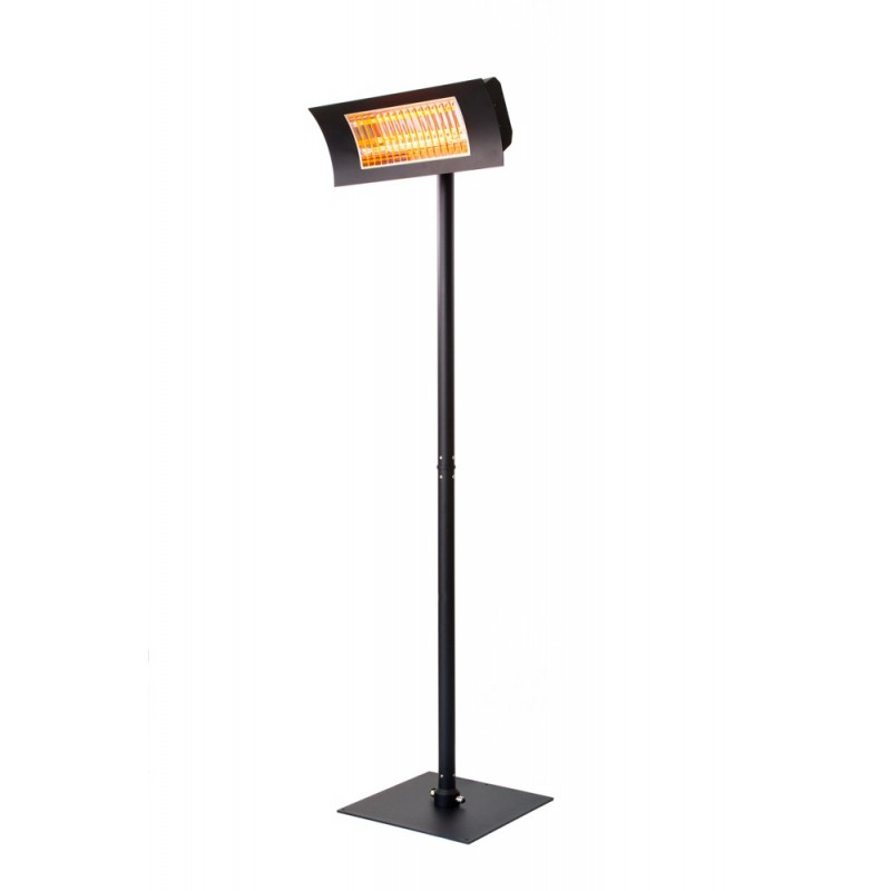 Piantana per lampada infrarossi oasi nera for Lampade infrarossi riscaldanti vortice