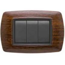 Placca Compatibile Bticino Living Classic 3/4/Unel/6 Posti Legno Scuro