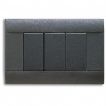 Placca Grigio Noir 3 Moduli Ave Ral 45 45P03GN