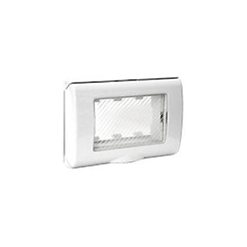 Placca ip55 3 moduli bianca ave banquise 45sp43bn - Interruttori ave ...