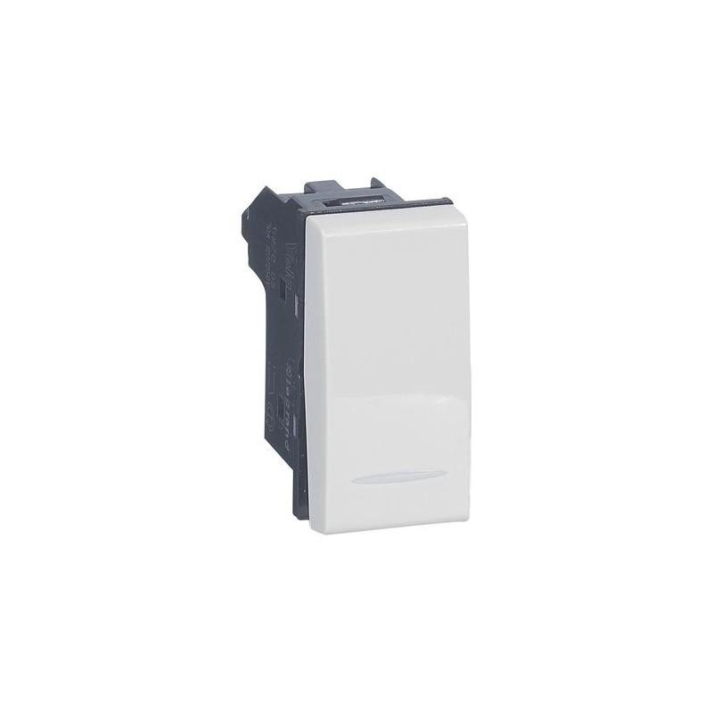 Pulsante 1P NO 10A - Legrand 687005 - Vela bianca