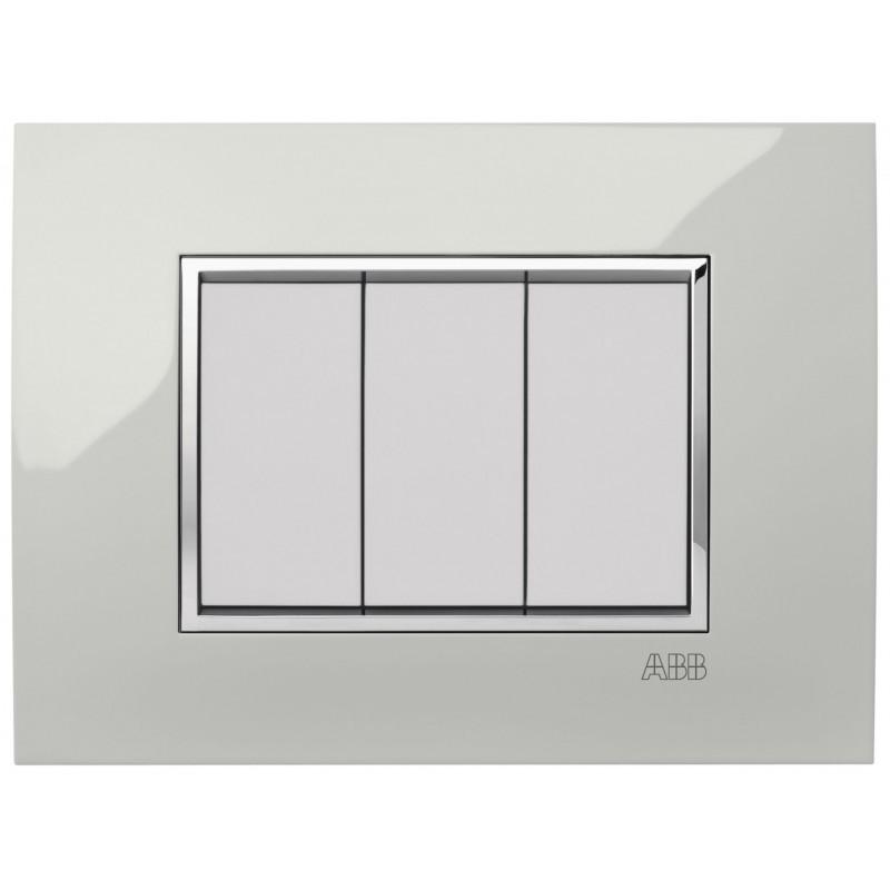 Placca Square Velvet Bianco 4 Moduli Abb Mylos 2Csy0424Qmp