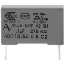 Kemet R46KR422000M1M+ 1 pz. Condensatore di soppressione interferenze MKP radiale 2.2 µF 275 V 20 % 27.5 mm (L x L x A)