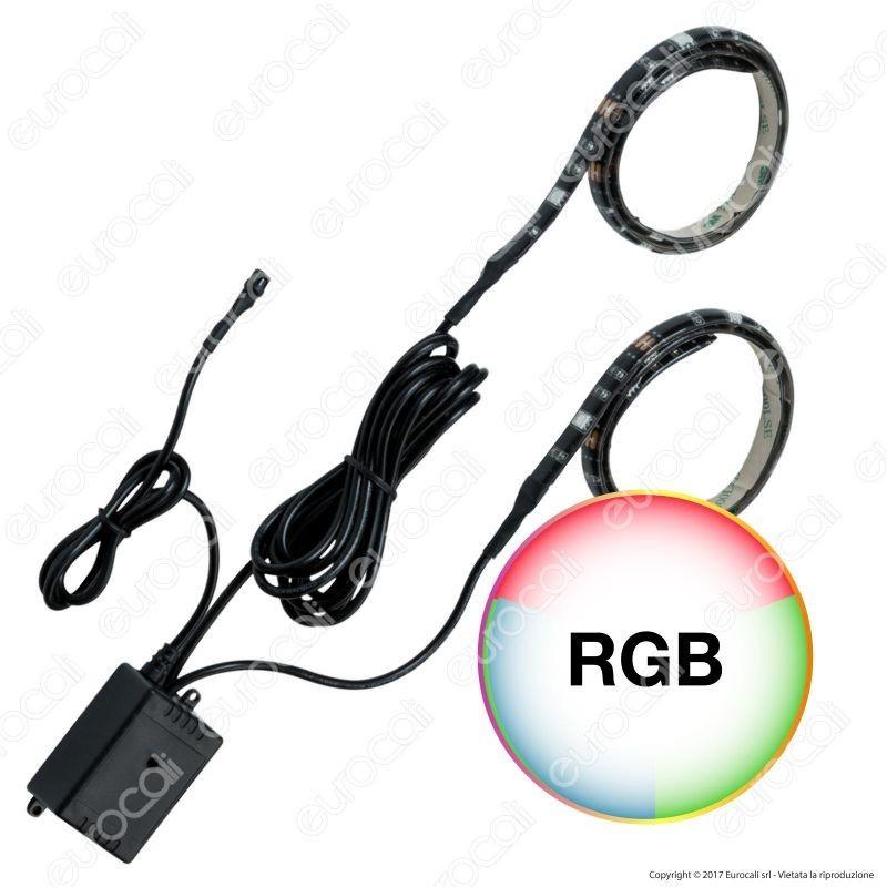 Paulmann Kit Striscia LED Doppia Multicolore RGB 50cm USB con Controller