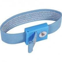 Cinturino da polso ESD Blu chiaro Wolfgang Warmbier 2050.750.3 Connettore a pressione 3 mm
