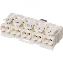 Adels-Contact 041015 Morsetto per illuminazione flessibile: -2.5 mm² rigido: -2.5 mm² Poli: 5 1 pz. Bianco