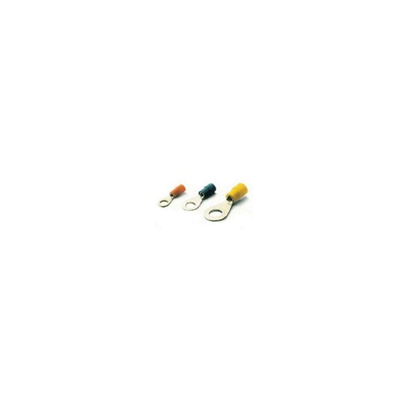 100 CAPICORDA A FORCELLA m-6 Giallo per 4-6 mm² Cavo /_ m6