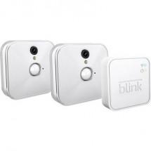 Kit videosorveglianza IP WLAN 10 canali con 2 camere 1280 x 720 Pixel Blink Sync + HD