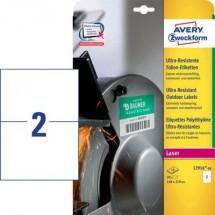 Avery-Zweckform L7916-10 Etichette 210 x 148 mm Pellicola in polietilene Bianco 20 pz. Permanente Etichetta universale