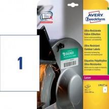 Avery-Zweckform L7917-10 Etichette 210 x 297 mm Pellicola in polietilene Bianco 10 pz. Permanente Etichetta universale