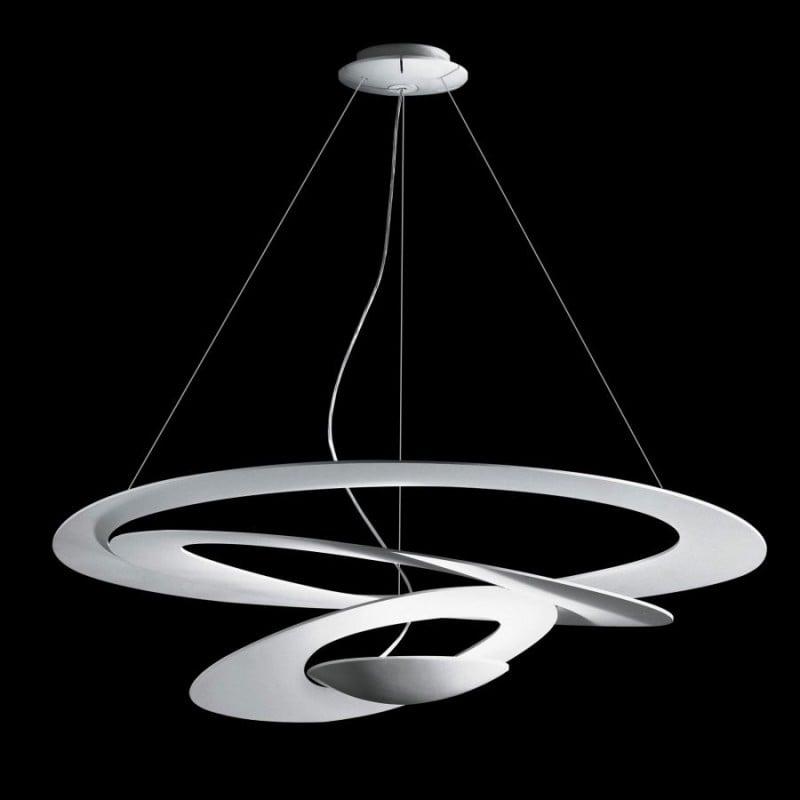 Lampadario a sospensione led bianco 45w luce calda 3000k for Artemide illuminazione