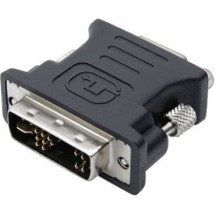 Adattatore DVI / VGA club3D [1x Spina DVI 12+5 poli - 1x Presa VGA] Nero