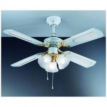 Ventilatore Da Soffitto 4 Pale Con Lampadario Diametro 105 Cm Perenz