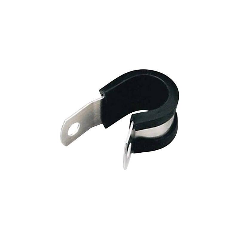 Fascetta di fissaggio in alluminio con profilo di protezione in cloroprene HellermannTyton Contenuto: 1 pz.