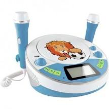 X4 Tech Bobby Joey Jam Box Lettore CD per bambini Bluetooth, AUX, CD, USB, SD incl. funzione karaoke , incl. Microfono