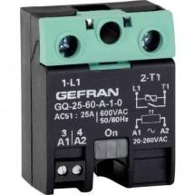Gefran Relè a semiconduttore 1 pz. GQ-50-60-D-1-3 Carico max: 50 A Tens.comm.max: 600 V/AC Commutazione zero crossing