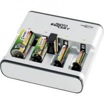 Caricabatterie universale Ansmann Photocam V NiCd, NiMH Ministilo (AAA), Stilo (AA), 1/2 Torcia (C), Torcia (D), Blocco
