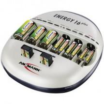 Caricabatterie universale Ansmann Energy 16 plus NiCd, NiMH Ministilo (AAA), Stilo (AA), 1/2 Torcia (C), Torcia (D),