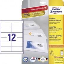 Avery-Zweckform 6123 Etichette 97.3 x 42.3 mm Carta Bianco 120 pz. Permanente Etichetta universale Inchiostro, Laser,
