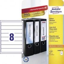 Avery Etichette Premium Design 2 in 1 per raccoglitori bianco//rosso