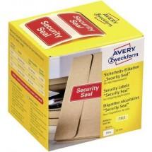 Sigillo di sicurezza Avery Zweckform 7311, 38 x 20 mm, con indicazione Security Seal, 1 rotolo/200 etichette, rosso