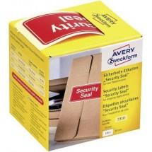 Avery Zweckform Sigillo di sicurezza 7310, 78 x 38 mm, indicazione Security Seal, 1 rotolo/100 etichette, rosso