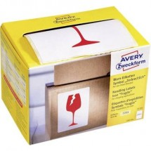 Avery Zweckform 7251 Etichetta avvertimento icona, 74 x 100 mm, simbolo: Attenzione fragile, 1 rotolo/200 etichette,