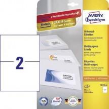 Avery-Zweckform 3655-10 Etichette 210 x 148 mm Carta Bianco 20 pz. Permanente Etichetta universale Inchiostro, Laser,