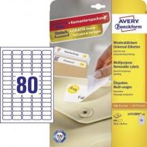 Avery-Zweckform L4732REV-10 Etichette 35.6 x 16.9 mm Carta Bianco 800 pz. Staccabile Etichetta universale Inchiostro,