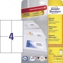 Avery-Zweckform 6124 Etichette 105 x 148 mm Carta Bianco 40 pz. Permanente Etichetta universale Inchiostro, Laser, Copia